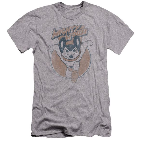 Mighty Mouse Flying With Purpose-premuim Canvas Adult Slim Fit