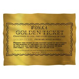 Willy Wonka And The Chocolate Factory I Got A Golden Ticket Pillow Case
