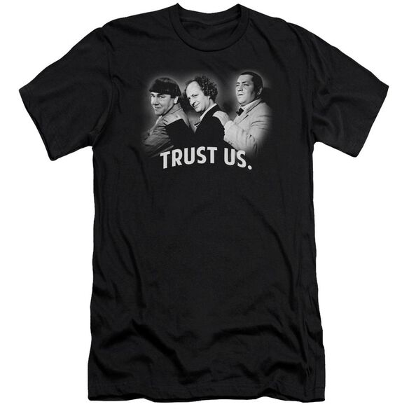 Three Stooges Turst Us Premuim Canvas Adult Slim Fit