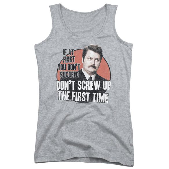 Parks And Rec Dont Screw Up Juniors Tank Top Athletic