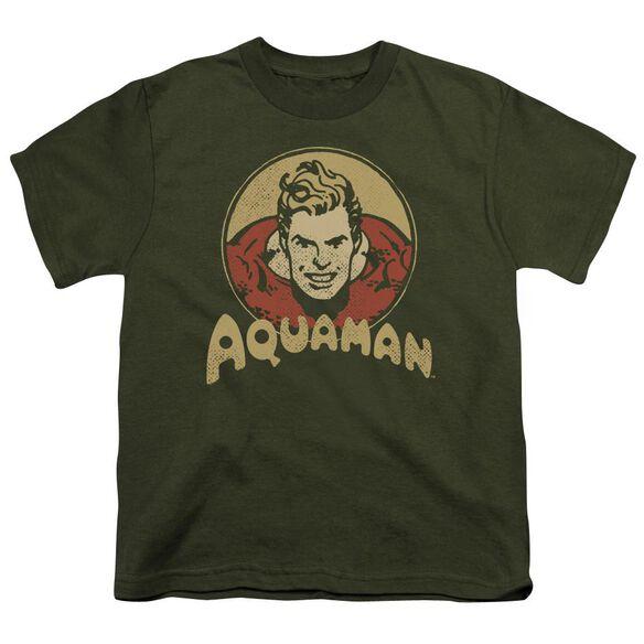 Dc Aqua Circle Short Sleeve Youth Military T-Shirt