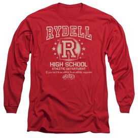 GREASE RYDELL HIGH - L/S ADULT 18/1 - RED T-Shirt