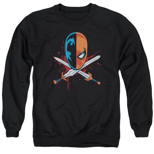 Jla Crossed Swords Adult Crewneck Sweatshirt