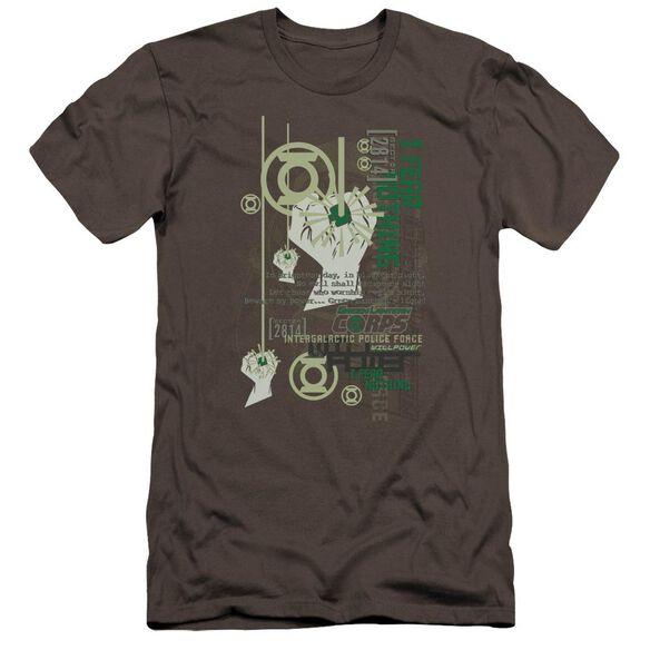 Green Lantern Core Strength-premuim Canvas Adult Slim
