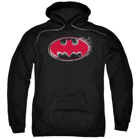 Batman Hardcore Noir Bat Logo Adult Pull Over Hoodie Black