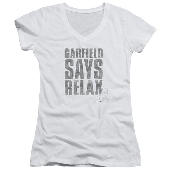 Garfield Relax Junior V Neck T-Shirt