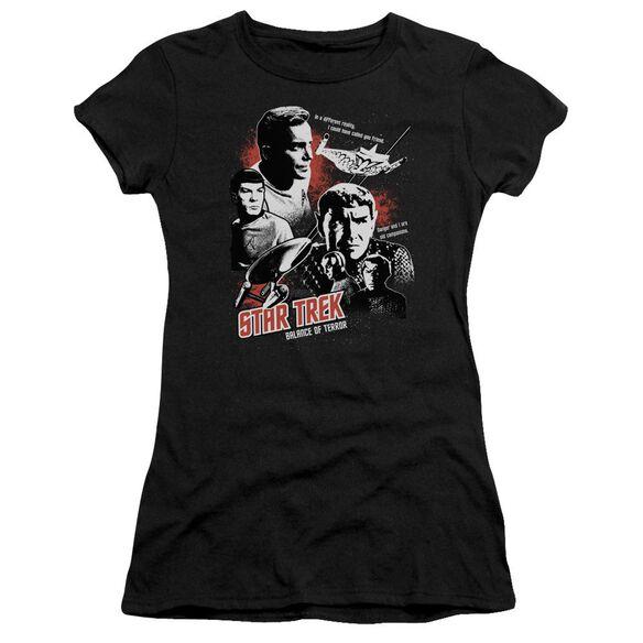 Star Trek Balance Of Terror Short Sleeve Junior Sheer T-Shirt
