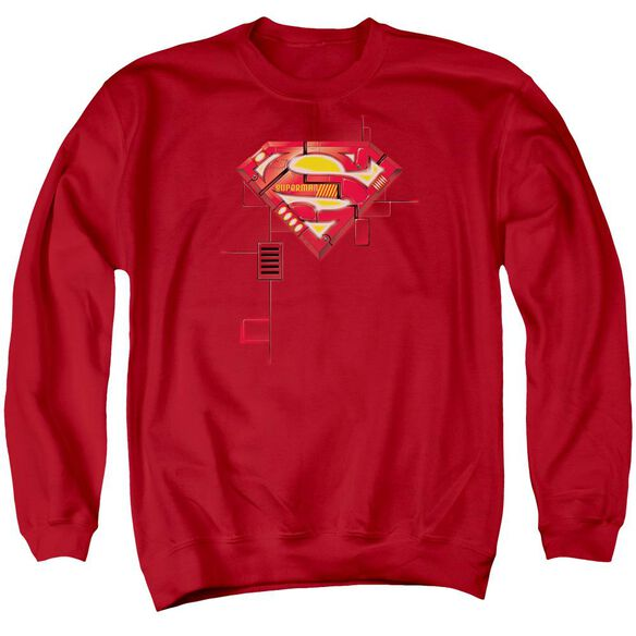 Superman Super Mech Shield Adult Crewneck Sweatshirt