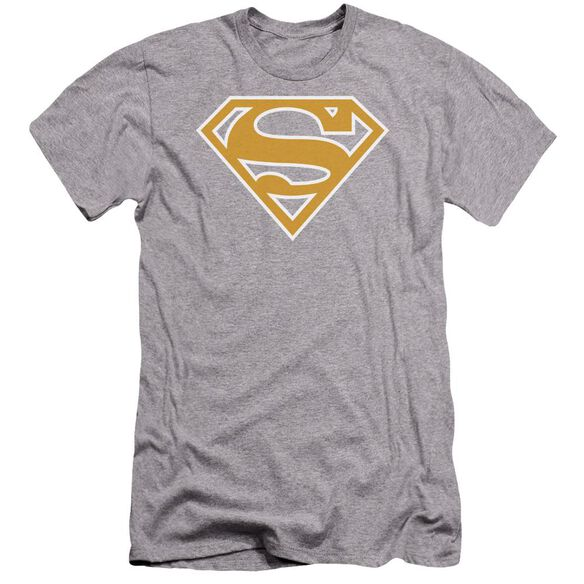 Superman Lt Orange & White Shield Premuim Canvas Adult Slim Fit Athletic