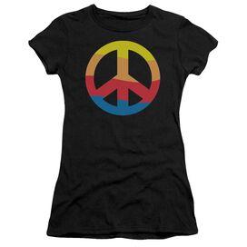 RAINBOW PEACE SIGN - JUNIOR SHEER T-Shirt