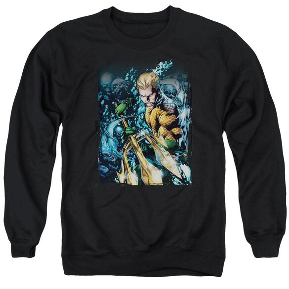 Jla Aquaman #1 Adult Crewneck Sweatshirt