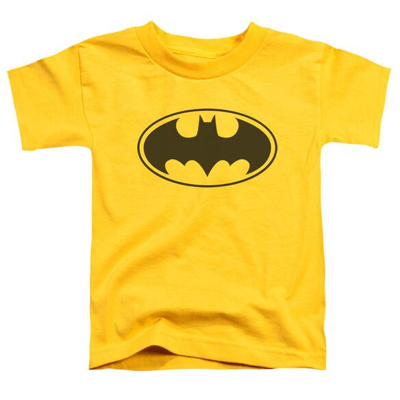 Batman Black Bat Short Sleeve Toddler Tee Yellow T-Shirt