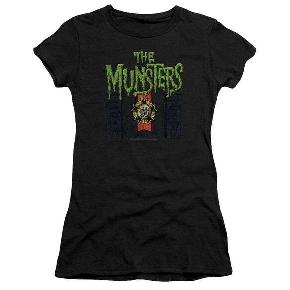 The Munsters 50 Year Logo Premium Bella Junior Sheer Jersey
