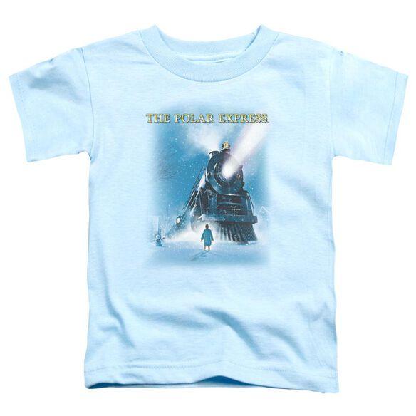 Polar Express Big Train Short Sleeve Toddler Tee Light Blue T-Shirt