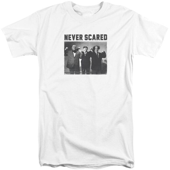 Three Stooges Never Scared Short Sleeve Adult Tall T-Shirt