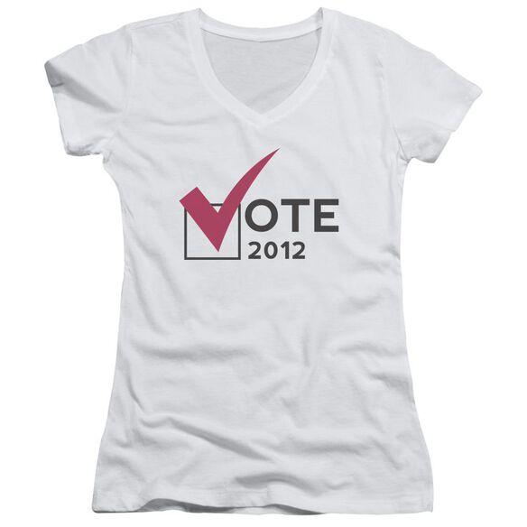 Vote 2012 Junior V Neck T-Shirt