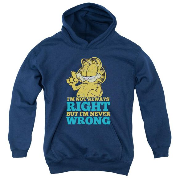 Garfield Never Wrong Youth Pull Over Hoodie