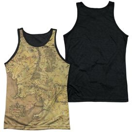 LOR MIDDLE EARTH MAP-ADULT POLY TANK TOP