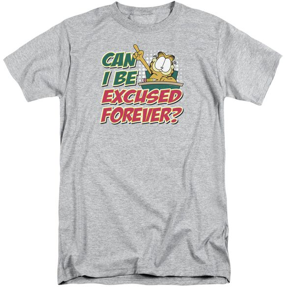 Garfield Excused Forever Short Sleeve Adult Tall Athletic T-Shirt