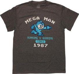 Mega Man Running Gunning T-Shirt