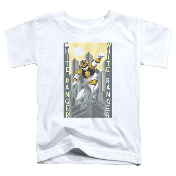 Power Rangers White Ranger Deco Short Sleeve Toddler Tee White T-Shirt