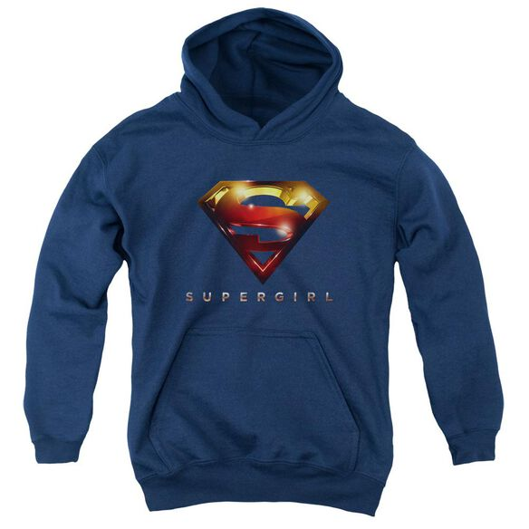 Supergirl Logo Glare Youth Pull Over Hoodie