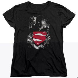 SUPERMAN DARKEST HOUR - S/S WOMENS TEE - BLACK T-Shirt
