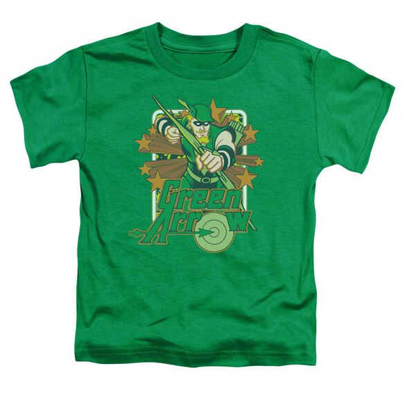 Dc Green Arrow Stars Short Sleeve Toddler Tee Kelly Green Lg T-Shirt