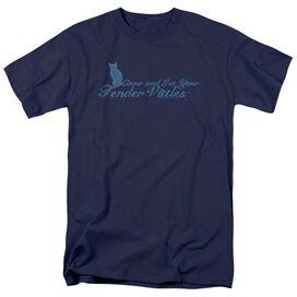 Tender Vittles Come And Get Em Short Sleeve Adult Navy T-Shirt