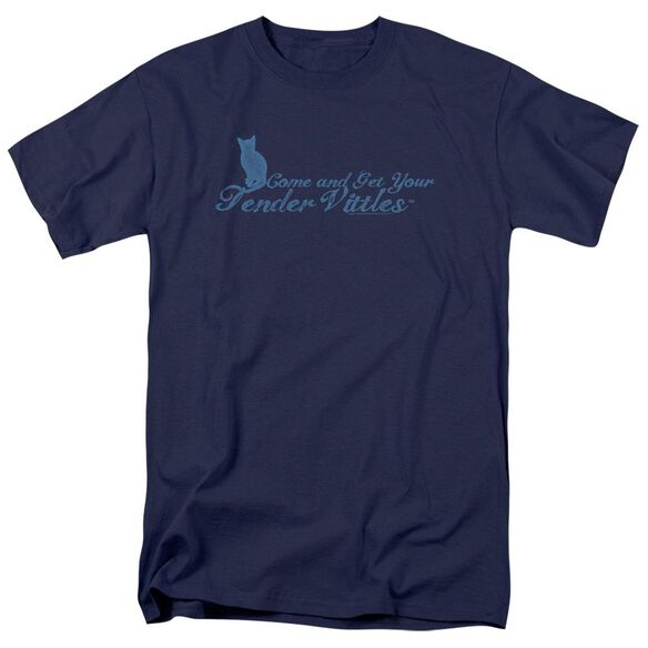 Tender Vittles Come And Get Em Short Sleeve Adult Navy T-Shirt