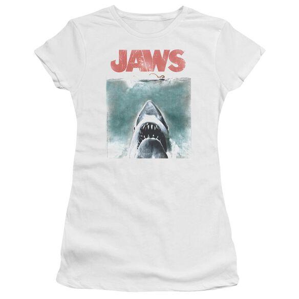 Jaws Vintage Poster Premium Bella Junior Sheer Jersey