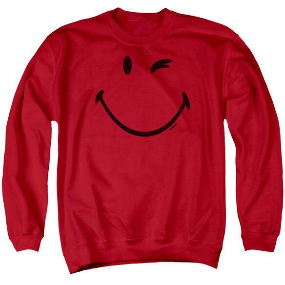 Smiley World Big Wink Adult Crewneck Sweatshirt