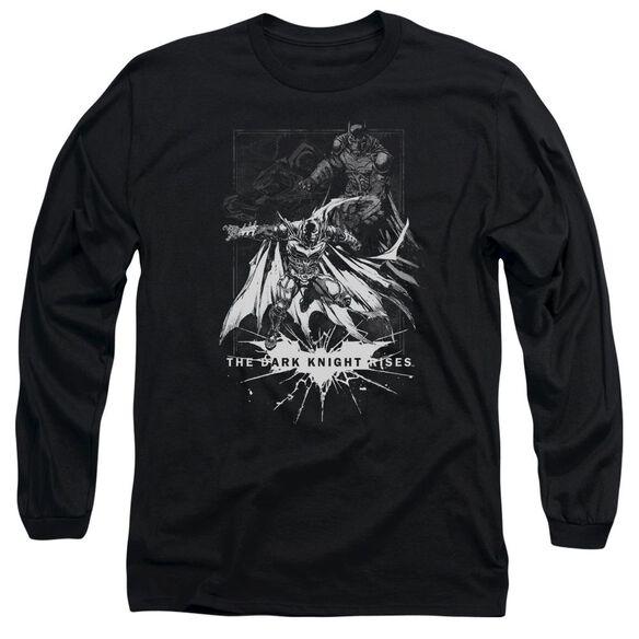 Dark Knight Rises Rising Sketch Long Sleeve Adult T-Shirt