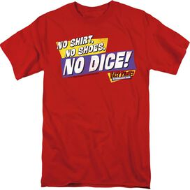 FAST TIMES RIDGEMONT HIGH NO DICE - S/S ADULT 18/1 - RED T-Shirt