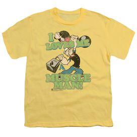 Popeye Muscle Man Short Sleeve Youth T-Shirt