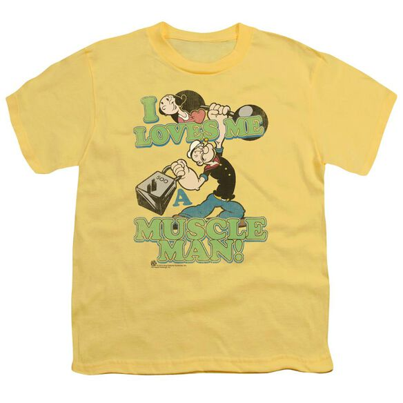 Popeye Muscle Man Short Sleeve Youth T-Shirt