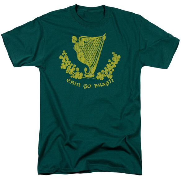 Erin Go Bragh Short Sleeve Adult Hunter Green T-Shirt