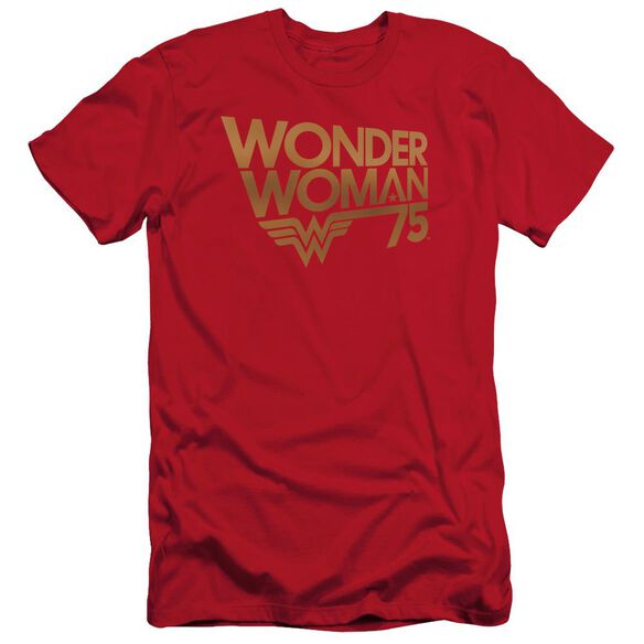 Wonder Woman Wonder Woman 75 Th Anniversary Gold Logo Hbo Short Sleeve Adult T-Shirt