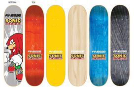 Finesse Skateboards - Sonic the Hedgehog Knuckles Skateboard Deck
