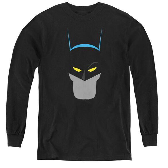 Batman Simplified - Youth Long Sleeve Tee - Black