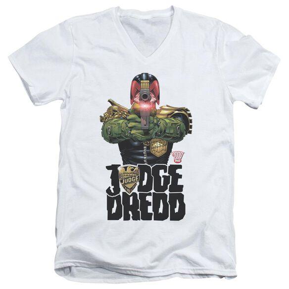Judge Dredd In My Sights Short Sleeve Adult V Neck T-Shirt
