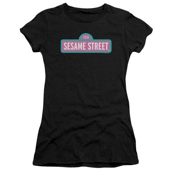 Sesame Street Alt Logo Premium Bella Junior Sheer Jersey