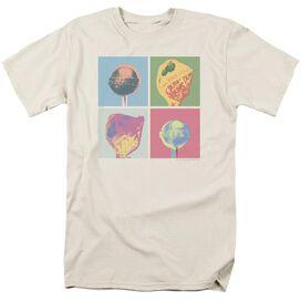 Dum Dums Pop Art Short Sleeve Adult Cream T-Shirt