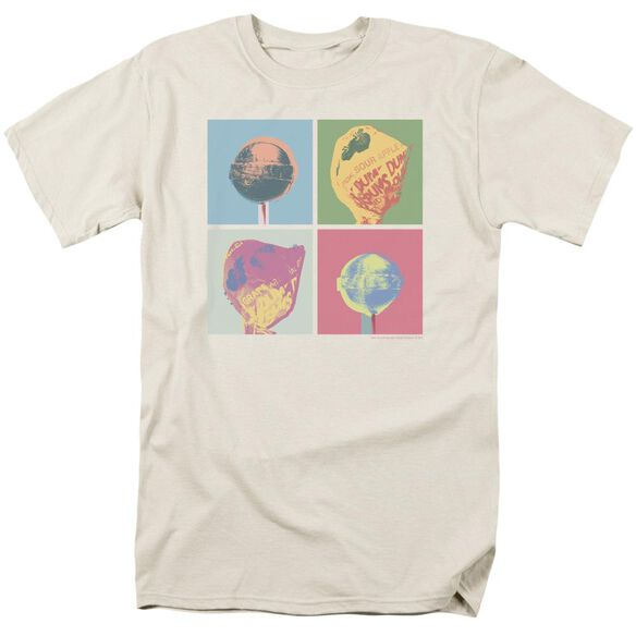 Dum Dums Pop Art Short Sleeve Adult Cream T-Shirt