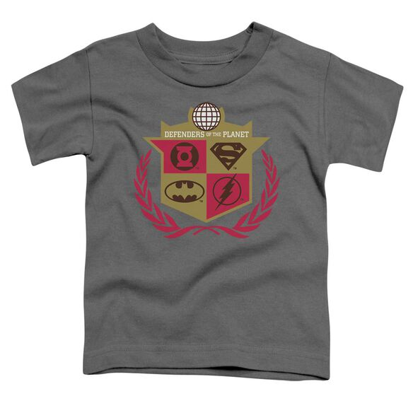 Jla Defenders Short Sleeve Toddler Tee Charcoal Sm T-Shirt