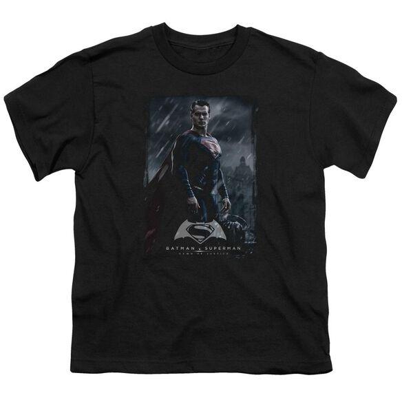 Batman V Superman Supe Poster Short Sleeve Youth T-Shirt