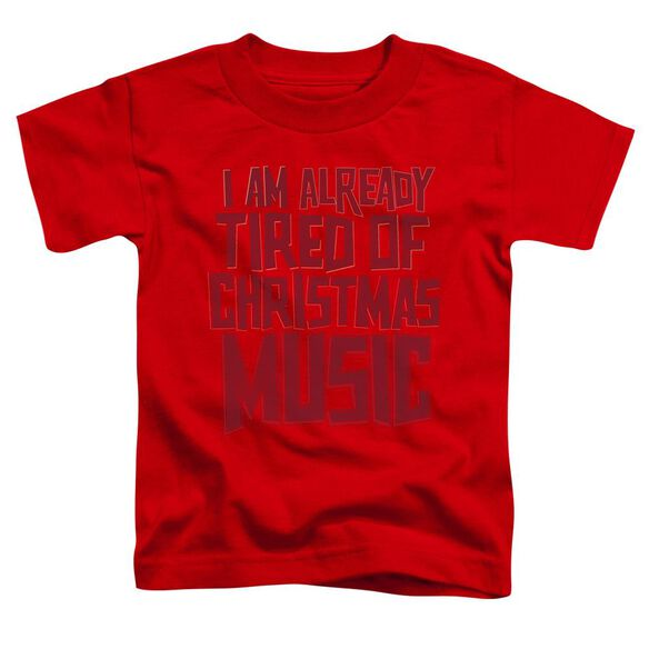 Tired Tunes Short Sleeve Toddler Tee Red Sm T-Shirt