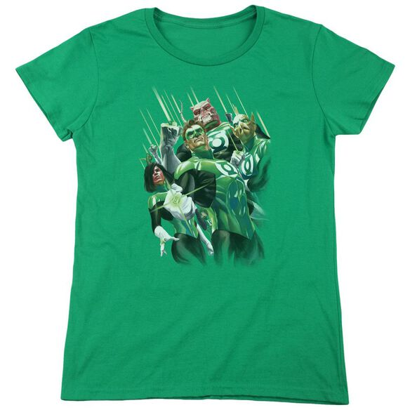 Gl Power Of The Rings Short Sleeve Womens Tee Kelly T-Shirt