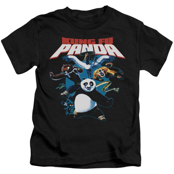 Kung Fu Panda Kung Fu Group Short Sleeve Juvenile T-Shirt