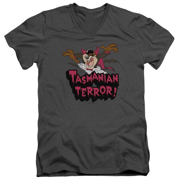 Looney Tunes Taz Terror Short Sleeve Adult V Neck T-Shirt